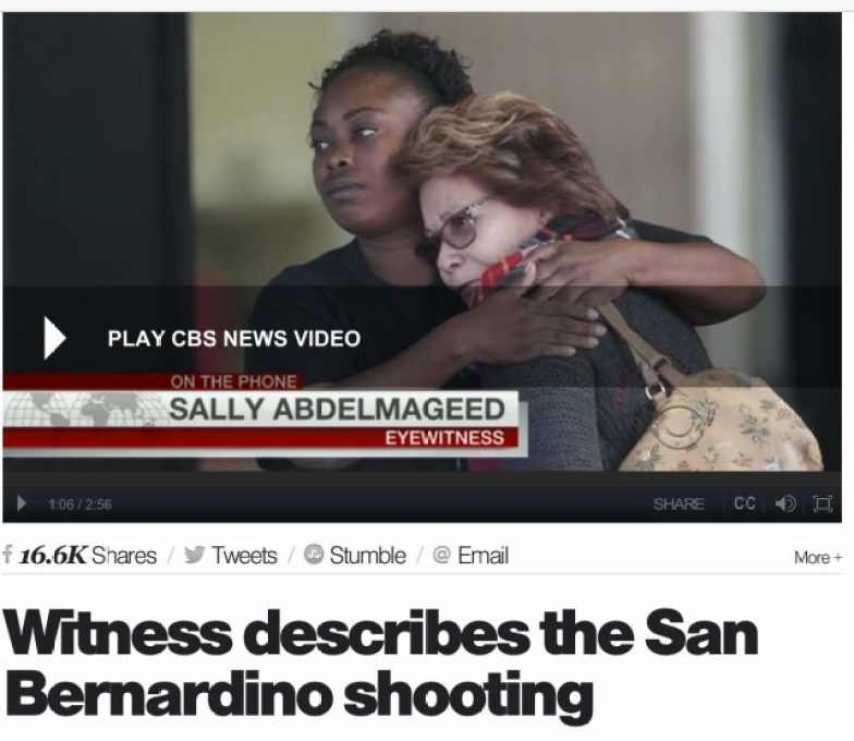 Watch the CBS News video of the interview with witness Sally Abdelmageed