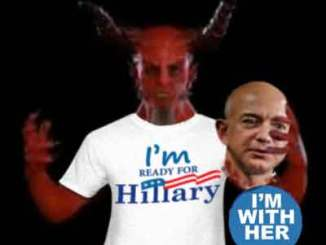 Jeff Bezos Accidentally Swallows Hillary's Sputum, Enters Demonic Portal