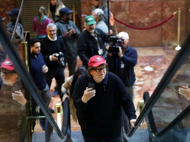 Michael Moore Visits Trump Tower, Demands Cheese Pizza