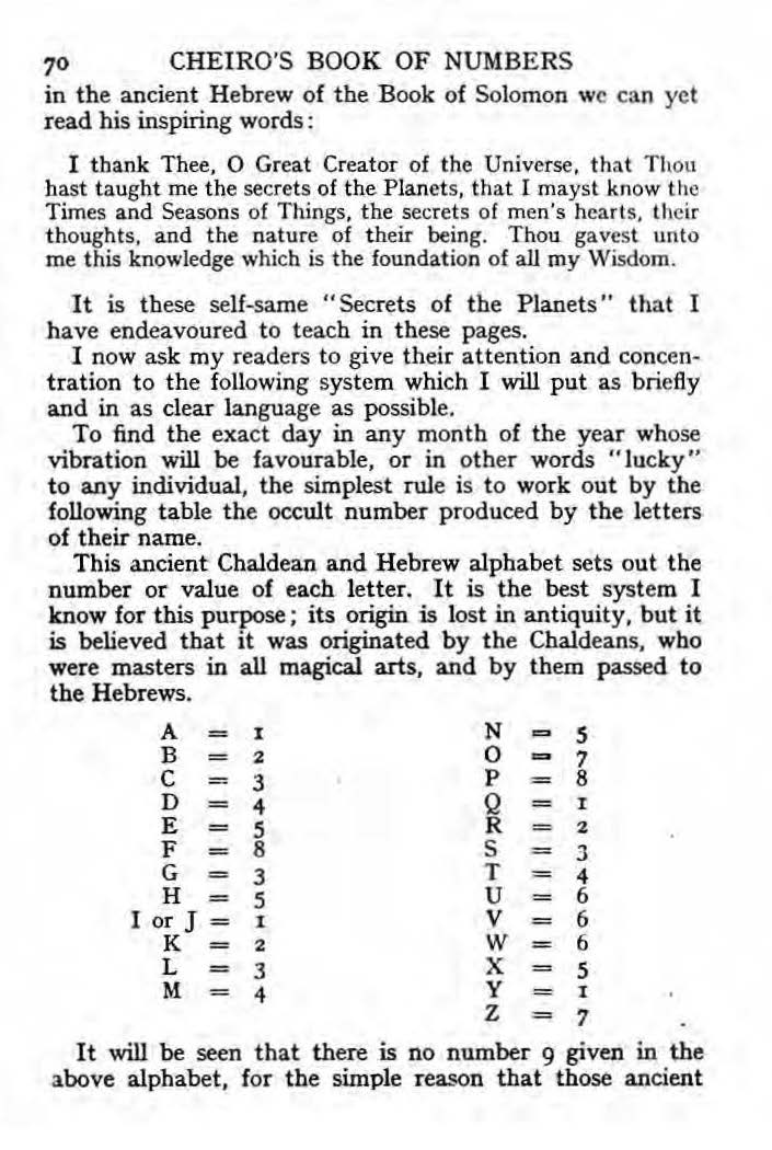 Cheiro S Book Of Numbers The Impious Digest