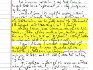 Guccifer's Letter Claims Hillary a Satanic High Priestess