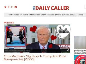 Heartwarming! Not Gay Chris Matthews Spends Broadcast Focusing on Putin and Trump's Crotch