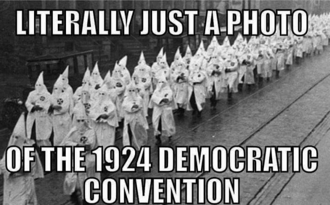 Destroy the Party Where Klan and Slavery Thrived