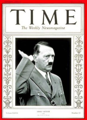 Adolf Hitler was Time's Man of the Year in 1938. In the next year, he started World War II.