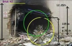 Hole made in Pentagon during 11 September 2001 attacks on United States…