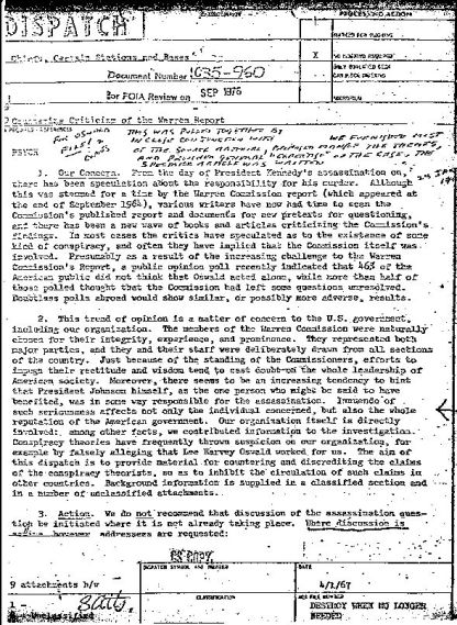 "SVR had previously documented that the words ""conspiracy theory"" and ""conspiracy theorists"" were completely made up by the CIA—and who, in their 1967 memo, instructed the entire US media establishment on how to use them in order to disparage and attack anyone not agreeing with the ""official"" narrative on who murdered President John F. Kennedy."