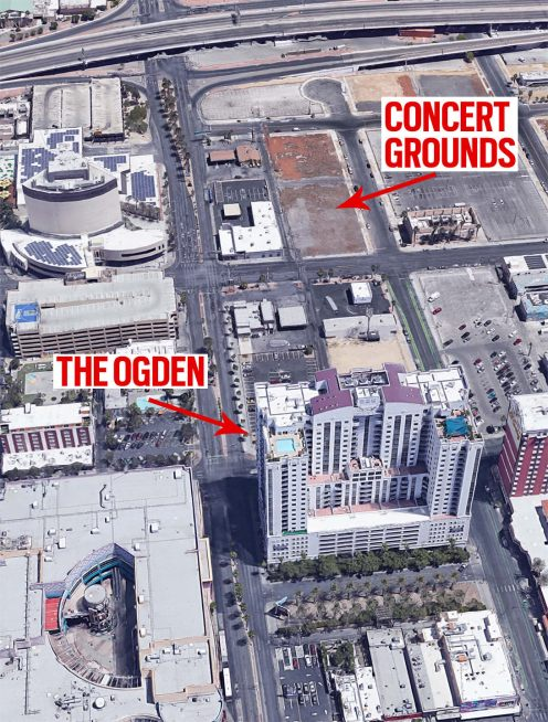 "Evidence confirms Stephen Paddock had rented rooms at The Ogden luxury condo building to carry out the CIA's ""false flag"" attack on the Life Is Beautiful-2017concert on 24 September"