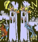 Satanic occult Tarot card depicting theWorldTradeCenterdestruction on 11 September 2001