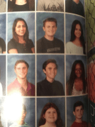 David Hogg (second row middle) pictured as graduating senior in 2015RedondoShoresHigh Schoolyearbook