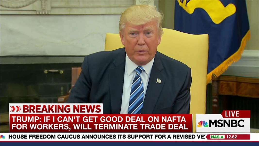 "Trump Declares Total Economic War On Canada-Mexico Saying ""Trade Wars Are Good, And Easy To Win"""