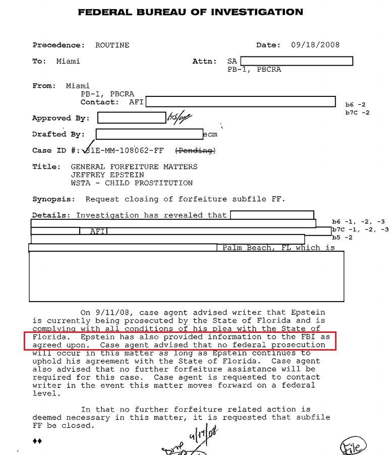 Was pedophile Jeffrey Epstein an informant for Mueller's FBI?