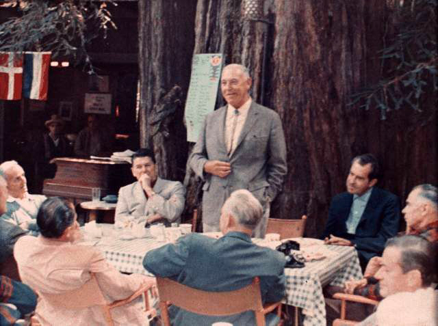 Richard Nixon, Ronald Reagan at Bohemian Grove