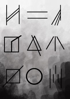 This was then final edit of the symbols. Again this helped me with refining and be critical about my work.