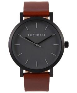 タンレザーの腕時計