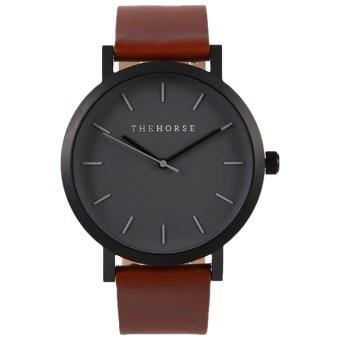 タンレザー腕時計ザホース