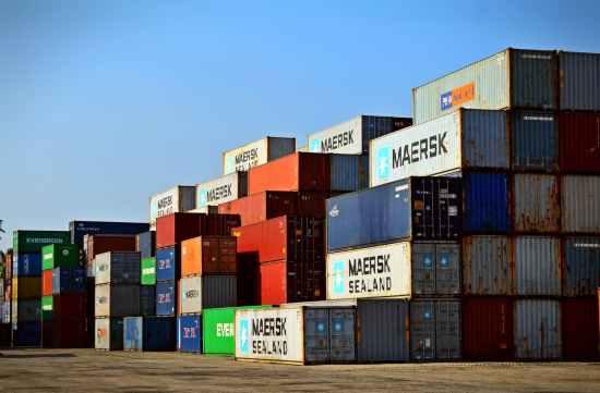 cargo container lot