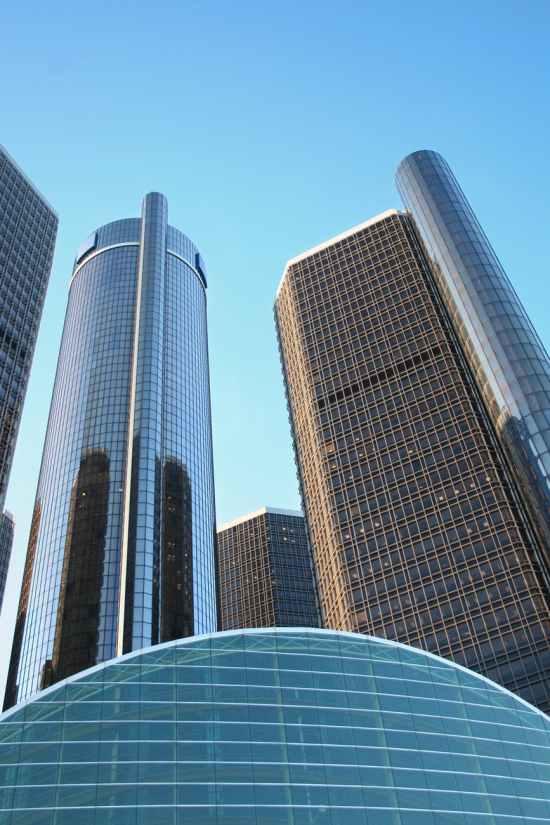 building skyscrapers detroit downtown