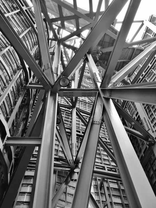 black and white building construction industry