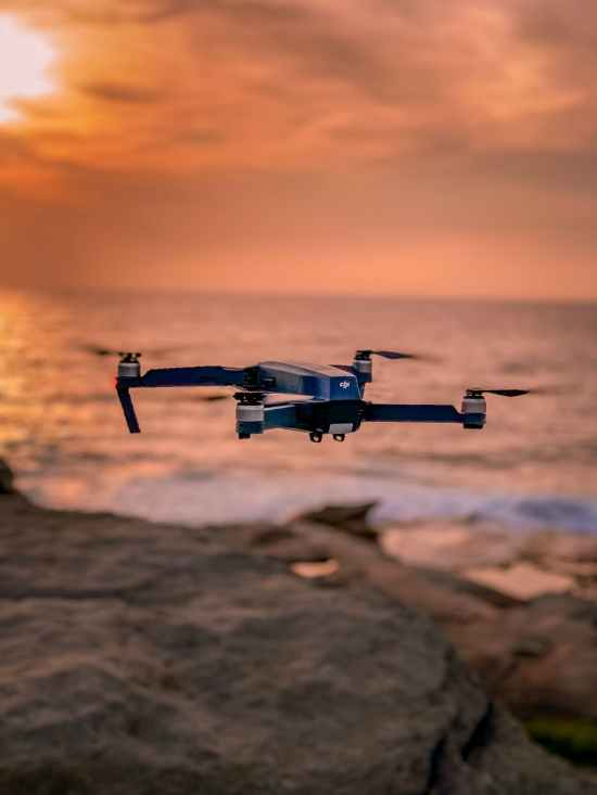 black dji mavic drone