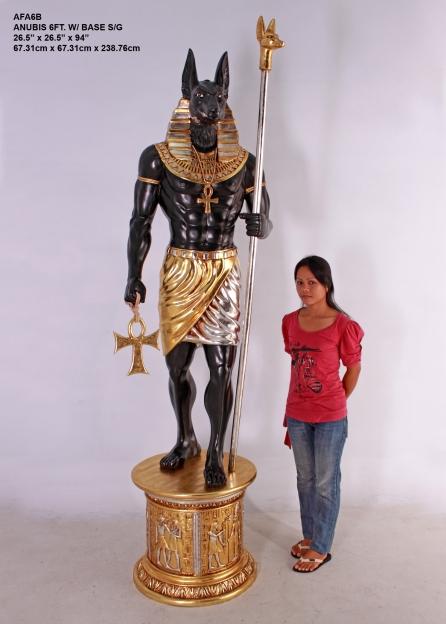 Anubis 6ft with Base ANUBIS AFA6BH  76300  Custom Bronze FIberglass Statues statue