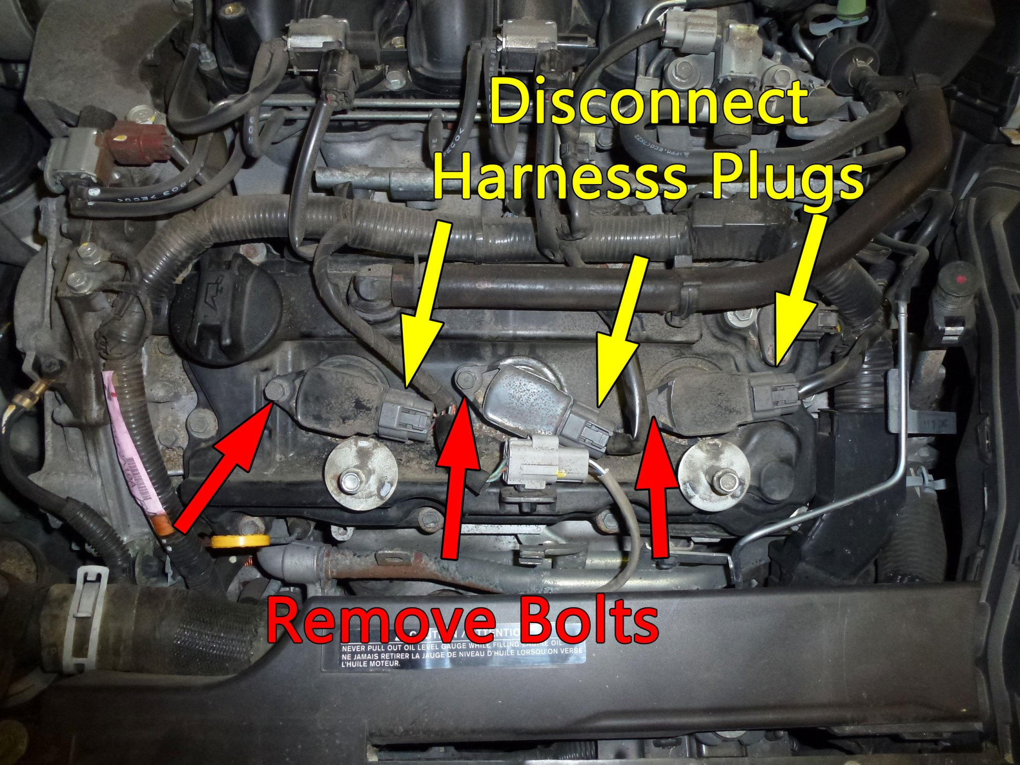 hight resolution of after removing the cover start by swapping out the front three plugs unplug the