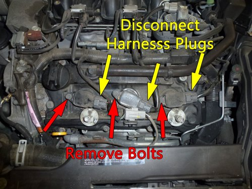 small resolution of after removing the cover start by swapping out the front three plugs unplug the