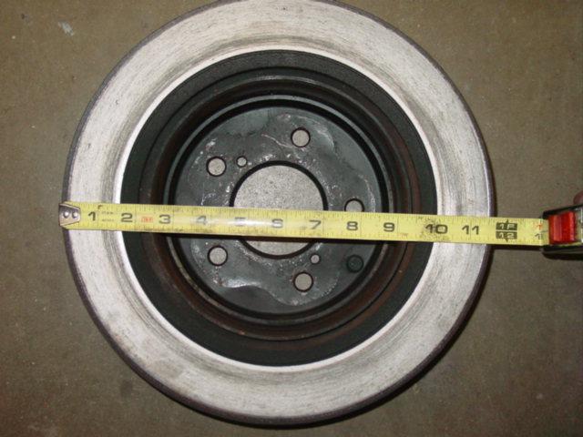 300ZX rear rotor