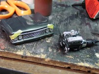 Tamiya's masking tape is great for holding pieces together while the glue sets.