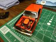 15 years later, I finally painted the air filter. The orange doesn't match the engine but I may fix that one day.