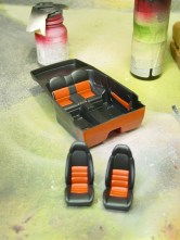 The orange paint really sets off the rest of the interior. I'm glad I took the time to do this.
