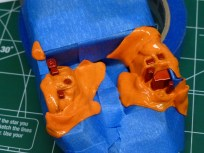 Liberal use of silly putty made quick work of the engine bay detail.