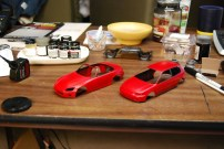 Not wanting the red paint to go bad, I pulled every Honda that I wanted to paint the same color and started building.