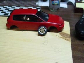 I was experimenting with the look of the wheels. This did not work as I had hoped.