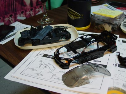 With a diecast kit, the hardest part of preparing the body and finish is completed.
