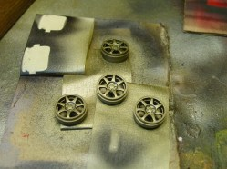 These are wheels from an Integra Type R kit. I preferred these over the kit wheels.