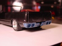 The basic shape of the vette tail, flipped upside down, was perfect for finishing up the rear portion of the truck.