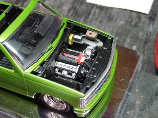 At this point, the engine and engine bay were complete.