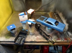 Everything was prepped and ready for the first of many rounds of primer.