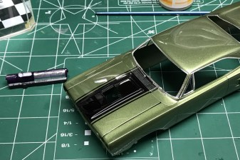 Once the polishing was complete, I used bare metal foil on the window trim.