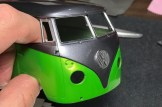 For as long as I've been building this bus, I've been concerned about how I would finish the emblem. Now it was time to try. Using BMF was the only way. Cutting away the outside of the emblem went well.