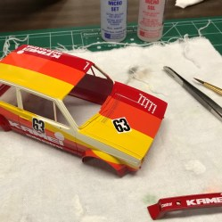 Given my history with Tamiya decals, I almost believe that this was harder than masking. Any mistake here meant the decals were irreparable. In the end, the decals went on nicely and turned out very well.