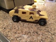 Although the wheels are the wrong scale, my son loved the way the Hummer turned out.