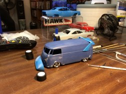 I'm thinking the VW bus needs a Superbird wing and nose cone!