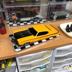 The Buick's hood looks good!
