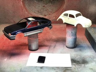 The Bug and CRX were now ready for assembly.