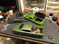 The Roadrunner and Camaro were progressing nicely.