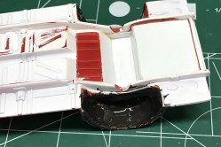 I used JB Weld to do the rough filler work on the chassis for the 53 Chevy