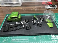 There isn't much more nerve-wrecking than trying to pull apart a kit and avoiding damage to the original paint. After some careful effort, the main body was off and set aside.