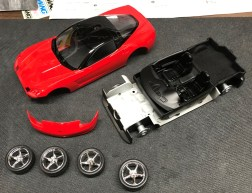 Once the body parts were sanded and polished, it was time to assemble the kit.