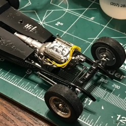 I didn't wire the engine in the original build. I had gotten away from doing wiring during this period of time. Even though I would be using the side panels and hiding the engine, I wanted to add the wiring.